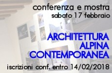 Conferenza ARCHITETTURA ALPINA CONTEMPORANEA